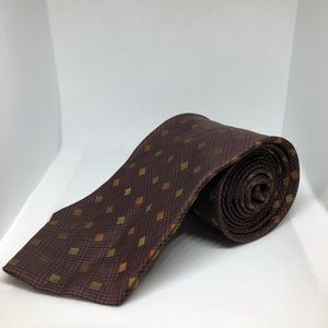 Nautica Men's Designer Tie 100% Silk Brown